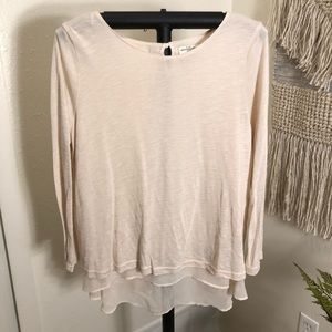Abercrombie & Fitch Sheer Back Off White Sweater